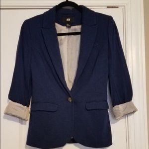Blue Blazer with striped lining